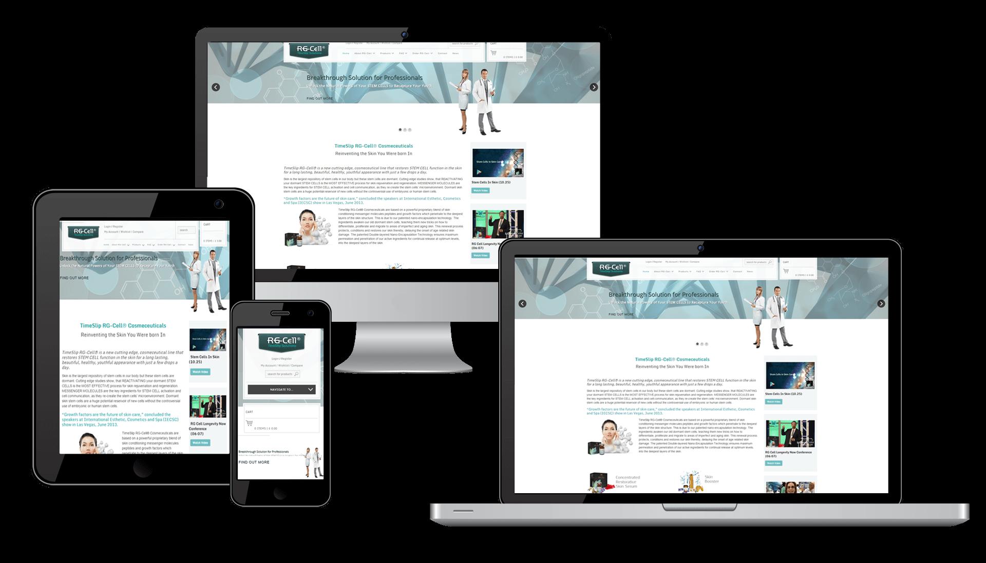 RG Cell Website Responsive Design