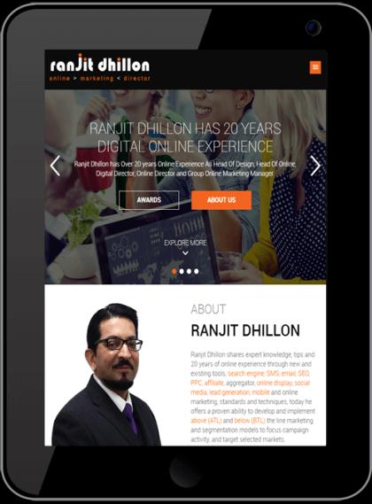 Ranjit Dhillon responsive website Timothy Graham Freelance Web Design