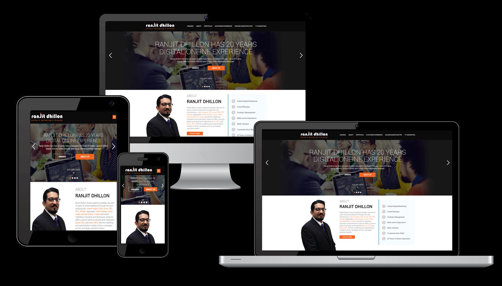 Ranjit Dhillon website responsive design