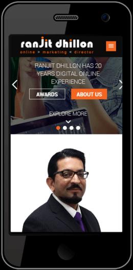 Ranjit Dhillon Website On Phone Timothy Graham Freelancer