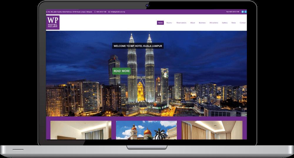 WP Hotel Responsive Website Desktop Devices Timothy Graham Freelancer