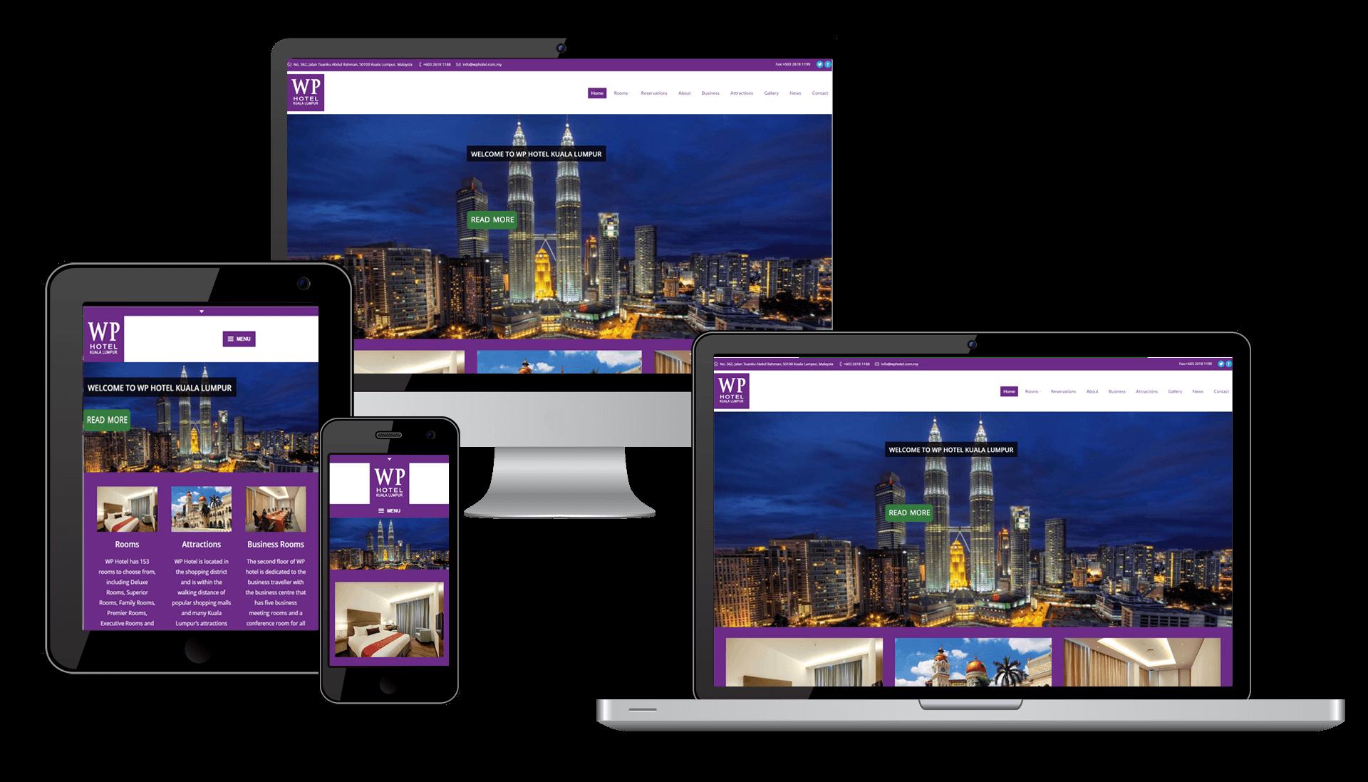 WP Hotel website