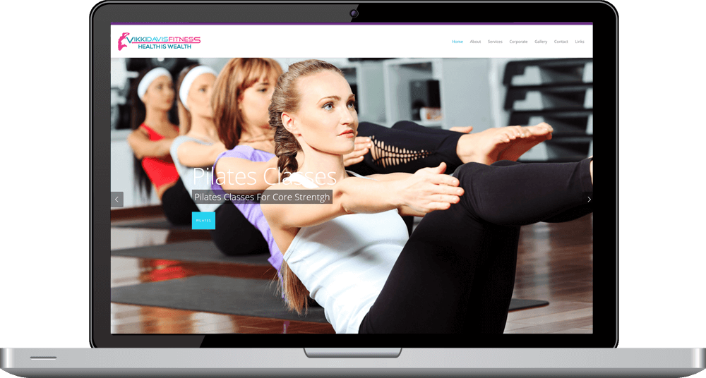 Vikki Davis Fitness Responsive Website Timothy Graham Freelancer