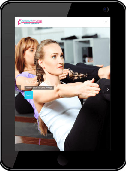 Vikki Davis Fitness Responsive Website Tablet Device Timothy Graham Freelancer