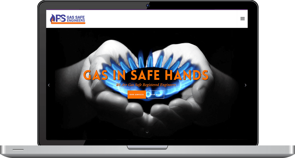 P and S Gas Safe Engineers Portfolio Desktop Timothy Graham Freelance Web Designer
