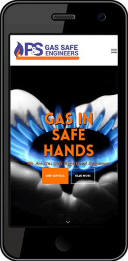 P and S Gas Safe Engineers Portfolio Iphone Timothy Graham Freelance Web Designer