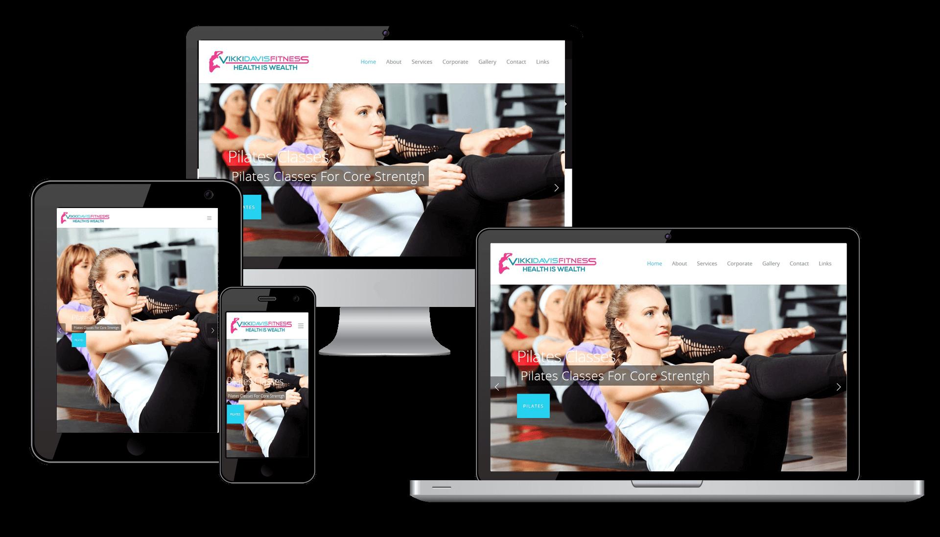 Vikki Davis Fitness Website Complete Responsive