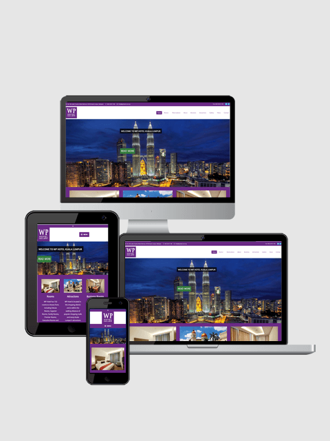WP hotel Website On Responsive Devices